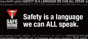 SAFE Work Manitoba - Safety is a language we can ALL speak - Image