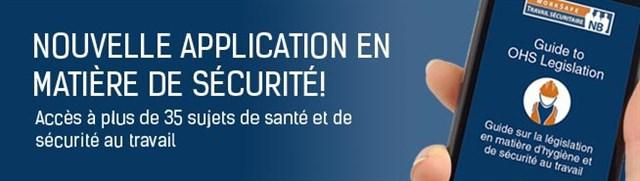 Travail sécuritaire NB lance une nouvelle application